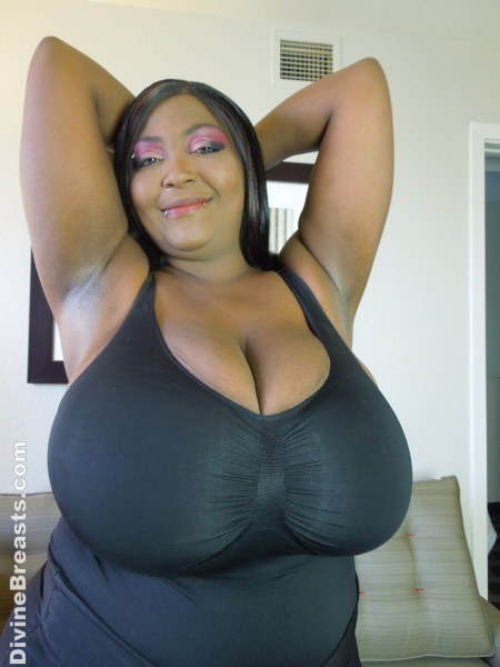 Huge saggy black boobs