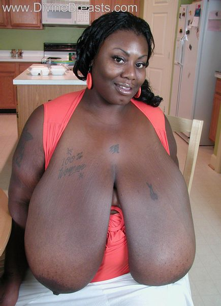 Black big breast com