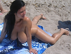 Nudist Big Boobs Beach